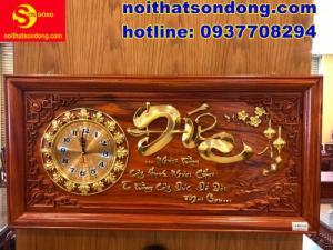 2020-07-05 10:25:10  2  Tranh đồng hồ chữ Đức dát vàng cực sang giá cực bèo 2,250,000