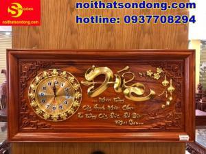 2020-07-05 10:25:10  3  Tranh đồng hồ chữ Đức dát vàng cực sang giá cực bèo 2,250,000
