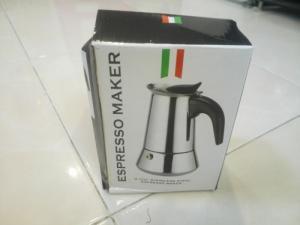 Ly pha cafe bằng hơi nước .