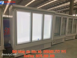 Tủ đông 3 cửa kính trưng bày thực phẩm đông lạnh