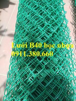 Bán lưới B40 bọc nhựa ô lưới 40x40, 50x50, 60x60, 75x75