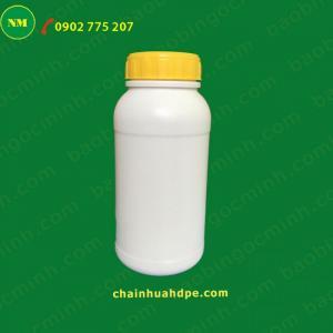 Chai nhựa hdpe, Chai nhựa 500ml, chai nhựa đựng nông dược, chai nhựa 1 lít.