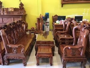 Bộ bàn ghế hương đá đào vai cong cô điển 6 món tay 10  siêu đẹp