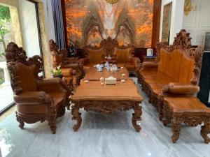 Bộ sofa hoàng gia nguyên khối gỗ gõ đỏ đẹp nhất tại Sài Gòn