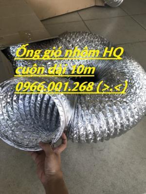 Ống gió nhôm hay còn gọi ống gió mềm nhôm phi 100,phi 200,phi 300,giá rẻ