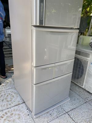 Tủ lạnh Toshiba GR-D43G(NS) Date 2010, 6 cánh, màu xám bạc, có cửa trợ lực hi