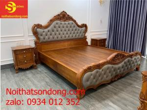 Giường gỗ bọc da cao cấp