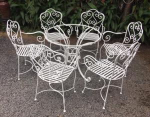 Ghế sắc mỉ nghệ 1 bàn 5 ghế làm tại xưởng sản xuất anh khoa 9978