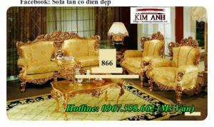 Bộ sofa cổ điển dát vàng phong cách hoàng gia