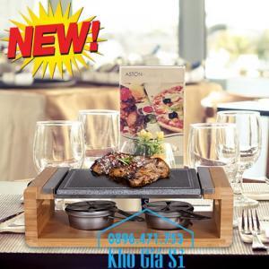 Miếng đá núi lửa nướng thịt Hàn Quốc BBQ cho nhà hàng cao cấp, sang trọng