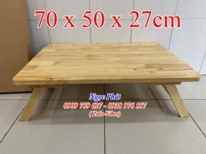 Bàn ngồi bệt 70x50cm chân thang -  Bàn gỗ xếp - Ngọc Phát