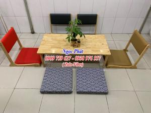 Ghế ngồi bệt cafe, trà sữa - Ghế ngồi bệt gỗ giá rẻ