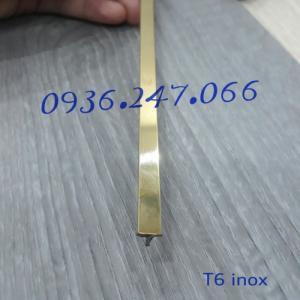 Nẹp trang trí T6 inox vàng gương