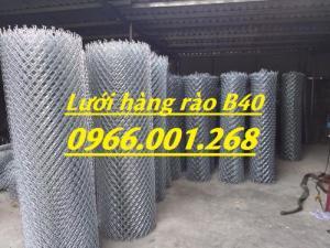 Lưới thép B40,lưới hàng rào B40 mạ kẽm, bọc nhựa dây 2.7,3.4 các loại