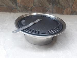 Bếp nướng than hoa âm bàn kèm vỉ nướng gang chống dính cao cấp giá rẻ