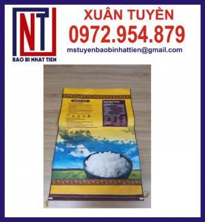 Bao PP dệt ghép màng cao cấp đựng gạo 10kg