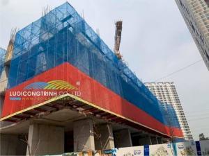Lưới màu xanh Hàn quốc chắn bụi công trình