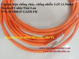 Cáp chống cháy Hosiwell 1x2Cx1.5mm2 có chống nhiễu - IF15001P-LSZH-FR
