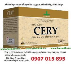 Bán Sỉ thảo dược Cery giảm acid uric, điều trị gout, khớp