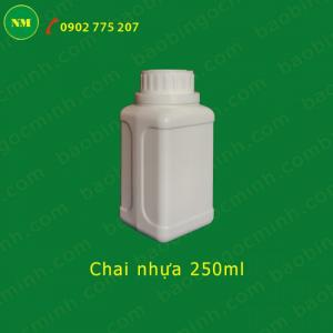 Chai nhựa 500ml  nhựa hdpe. Chai nhựa 250ml miệng nhỏ, chai nhựa hóa chất.