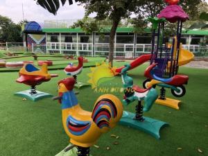 Chuyên cung cấp thú nhún lò xo cho trường mầm non, sân chơi trẻ em, công viên