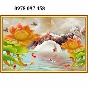 Tranh đẹp trang trí phòng - tranh men sứ ngọc
