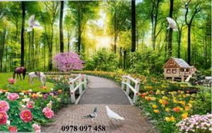Tranh thiên nhiên đẹp- tranh gạch