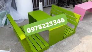 Bàn ghế gỗ bệt nhiều mẫu đa màu