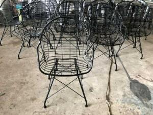 Thanh lý gấp 100 ghế sắt cafe sân vườn