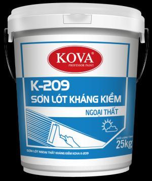 Sơn lót kháng kiềm kova K-209 ngoài trời thùng 25kg
