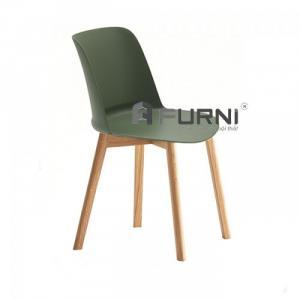 Ghế phòng ăn cao cấp thân nhựa chân gỗ nhập khẩu