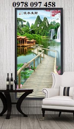 Tranh đẹp phòng khách- tranh gạch 3D