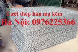 Lưới kẽm, lưới hàn mạ kẽm D3 a50, D4 a50 sản xuất theo yêu cầu