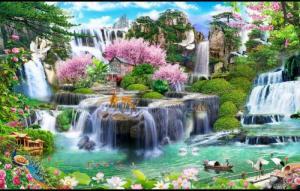 Tranh gạch phong cảnh thác nước