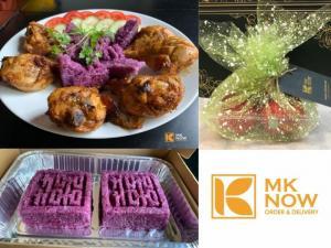 Combo Đùi gà nướng BBQ sốt đặc trưng MKnow Xôi lá cẩm/đậu xanh - MK05
