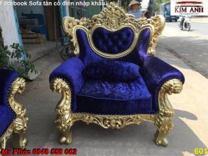 Xưởng sản xuất bàn ghế sofa đơn tân cổ điển | bộ bàn ghế phòng khách đẹp q2