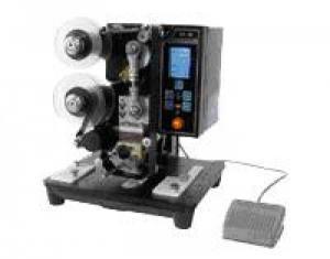 Máy in date bán tự động HP241B, máy đóng đát trên bao bì giấy, máy in date trên tem nhãn decal