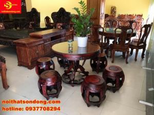 Bộ bàn ghế kiểu trống ngũ phúc siêu đẹp giá siêu rẻ
