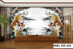 Tranh gạch phong thủy-tranh hổ