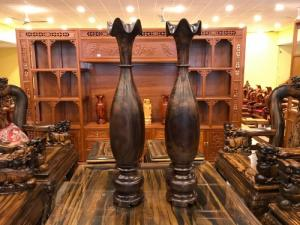 Lục bình nguyên khối cao 1m gỗ chiu liu giá rẻ