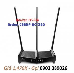 2020-07-20 09:20:31  3 Router TP-link Archer C58HP AC1350 băng tần kép 3 Ăng-ten ngoài cao hơn giúp tăng khả năng tiếp nhận và độ nhạy của router tạo ra kết nối mạnh mẽ cho khoảng cách rộng hơn. Router TP-link Archer C58HP AC1350 băng tần kép thu phát Internet cực mạnh 1,470,000