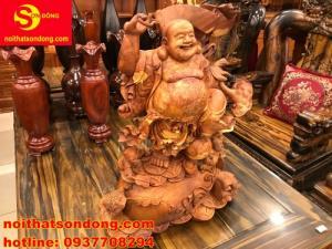 Di lạc hoan hỉ gỗ nu hương Việt siêu đẹp có 1 không 2 mua ngay