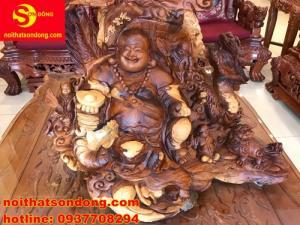 Di lạc tứ linh gỗ hương Việt ViP đẹp như tranh