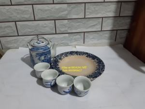 Bộ bình trà xanh nhỏ 8*12 cm