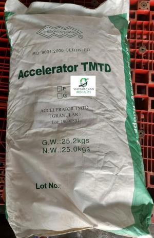 Tetramethyl thiuram disulphide (TMTD) (bán nguyên bao, giá kg)