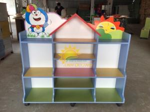 Chuyên cung cấp kệ gỗ trẻ em cho trường lớp mầm non, gia đình giá TỐT
