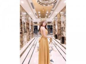 Đầm váy nữ lụa 2 dây nơ lưng hở 3 màu SC