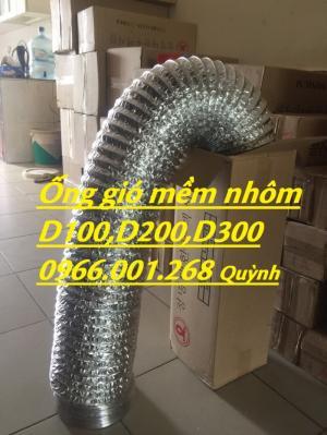 Ống thống gió chịu nhiệt,ống gió mềm nhôm D100,D125,D150,D200,D300