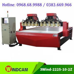 Máy CNC 10 đầu | Máy CNC đục gỗ | Máy CNC 2225-10-2Z