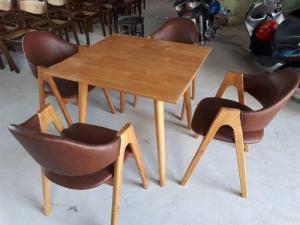 Ghế gỗ có nệm giá rẻ tại xưởng sản xuất..
